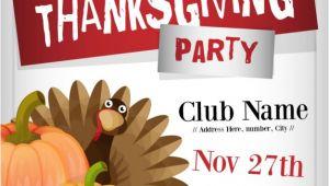 Free Printable Thanksgiving Flyer Templates Thanksgiving Party Flyer Template Vector Free Download