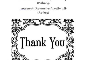 Free Printable Wedding Thank You Cards Templates 30 Free Printable Thank You Card Templates Wedding