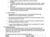 Free Restaurant Business Plan Template Word Restaurant Business Plan Template 10 Free Word Pdf
