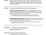 Free Resume Templates for Certified Nursing assistant Sample Resume Certified Nursing assistant Position