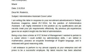 Free Sample Cover Letter for Administrative assistant Position 10 Administrative assistant Cover Letters Samples