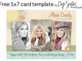 Free Senior Templates for Photoshop Free Card Template for Photoshop Drop In Your Photos and
