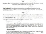 Free Service Contract Templates Agreement Template Category Page 1 Efoza Com