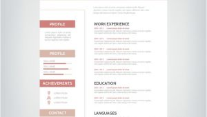 Free-simple-professional-resume-template-in-vector-format Simple Professional Resume Template Vector Free Download