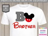 Free T Shirt Transfer Templates Instant Download Print at Home Mouse Brother Chevron