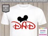 Free T Shirt Transfer Templates Instant Download Print at Home Mouse Ears Dad Printable