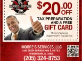 Free Tax Preparation Flyers Templates Moore 39 S Services Filing 2009 Return Alabama 39 S 1 Tax Service