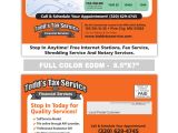 Free Tax Preparation Flyers Templates Tax Service Postcards Samples Print Label and Mail