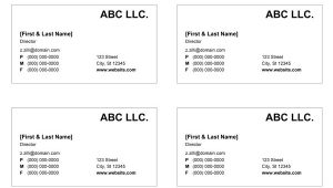 Free Template for Business Cards On Word Business Card Templates for Word