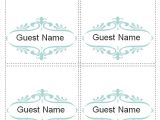 Free Template for Place Cards 6 Per Sheet Place Card Template 6 Per Sheet the Letter Sample