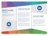 Free Template to Make A Brochure Tri Fold Brochure Vector Template Download Free Vector