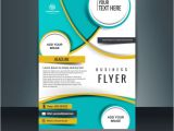 Free Templates for Business Flyers Business Flyer Template with Circular Shapes Vector Free