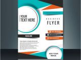 Free Templates for Business Flyers Business Flyer Template with Geometric Shapes Vector