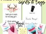 Free Thank You Card Template with Photo Baby Shower Hostess Gifts Printable Thank You Cards Thank