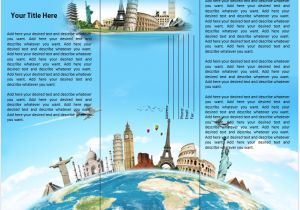 Free Travel Brochure Templates for Microsoft Word Travel or tourist Brochure Template Microsoft Word Templates
