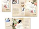 Free Tri Fold Wedding Brochure Templates Wedding Planner Tri Fold Brochure Template
