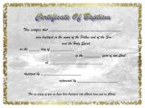 Free Water Baptism Certificate Template Water Baptism Certificates