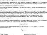 Free Wedding Photography Contract Template Uk event Photography Contract Template Photography