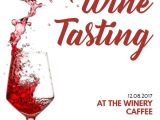 Free Wine Tasting Flyer Template Wine Tasting event Announcement Poster social Media Post
