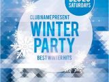 Free Winter Holiday Flyer Templates Winter Party Free Club and Party Flyer Psd Template Http