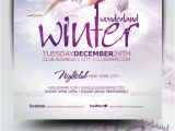 Free Winter Holiday Flyer Templates Winter Wonderland Christmas Flyer Template by Mrkra