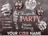 Free Xmas Invitation Card Templates Christmas Party Invitation Template Retro Background with