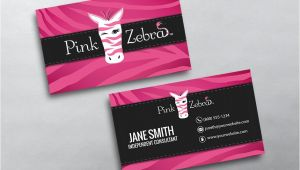 Free Zebra Business Card Template Pink Zebra Business Cards Free Shipping