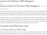 Freelance Web Developer Contract Template 10 Free Contract Templates for Web Designers