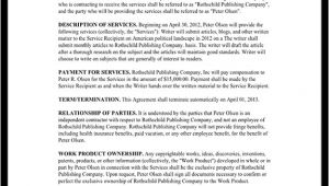 Freelance Writer Contract Template Freelance Writer Contract Template with Sample
