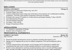 Fresher Resume Samples for Engineering Students Sample Resume for Fresher Mechanical Engineering Student