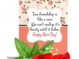 Friendship Day Greeting Card Quotes True Friendship Rose Day Greeting Card 2 Red Roses Hamper