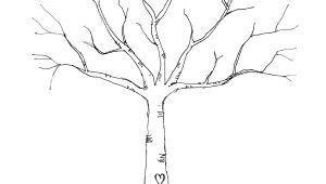 Friendship Tree Template Wedding Thumbprint Tree Download