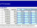 Fte Calculation Template Fte Definition Fte Calculation Fte Analysis
