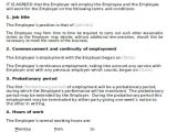 Full Time Employment Contract Template Employment Agreement Contract Sample 10 Examples In