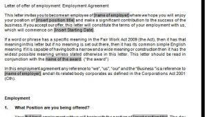 Full Time Employment Contract Template Full Time Employment Contract Template Fair Work