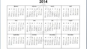 Full Year Calendar Template 2014 8 Best Images Of Full 2014 Year Calendar Printable 2014