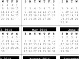 Full Year Calendar Template 2014 Calendarlabs Free Printable 2014 Calendar Holiday HTML