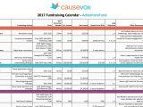 Fundraising Calendar Template Fundraising Plan A Planning Guide Calendar Template