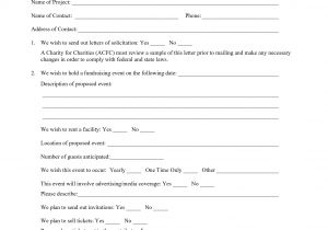 Fundraising Consultant Proposal Template Fundraising Proposal Template One Piece