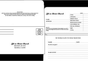 Fundraising Envelope Template Donor Envelope Template Templates Station