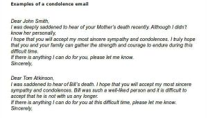 Funeral Email Template 6 Condolence Email Examples Samples Doc Examples