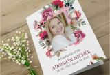 Funeral Flower Card Messages for Mum Printable Funeral Program Template Floral Funeral Memorial