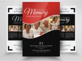 Funeral Flyers Templates Free Double Sided Memory Funeral Flyer Flyer Templates