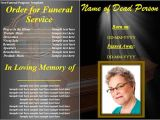 Funeral Program Templates Free Downloads 33 Sample Funeral Programs Templates Sample Templates