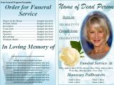 Funeral Program Templates Free Downloads Free Funeral Program Templates On the Download