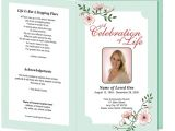 Funeral Service Sheet Template Best Photos Of Free Templates Funeral Program Designs