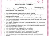 Funny Contracts Template Bridesmaids Contract Funny Google Search Bridesmaids