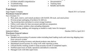 General Labor Resume Samples General Labor Resume Examples Free to Try today