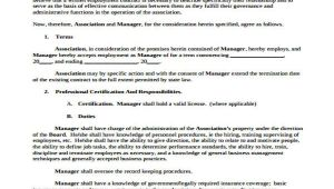 General Manager Contract Template 42 Sample Contract Templates Free Premium Templates