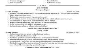 General Manager Resume Sample Best General Manager Resume Example Livecareer
